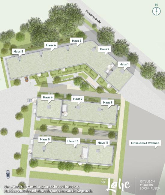 Immobilie An der Lohe - Projektübersichtsplan