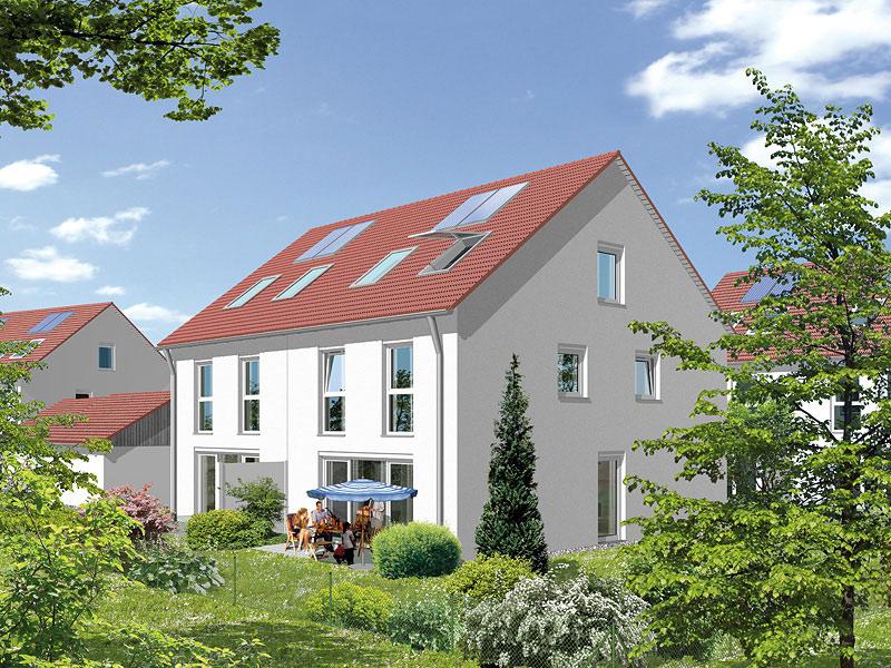 Immobilie Mein Maisach - Illustration Gartenansicht