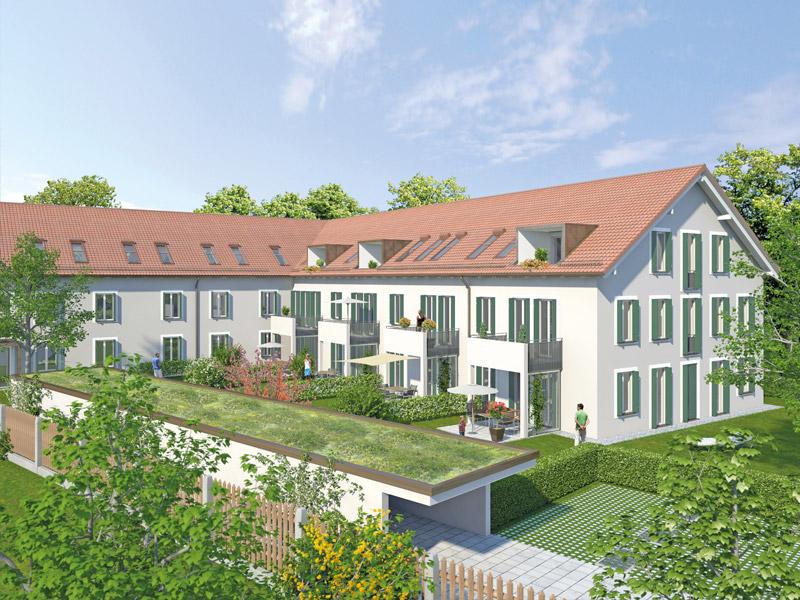 Immobilie Wohnidyll OTTENDICHL - Illustration Haus 3, Südansicht
