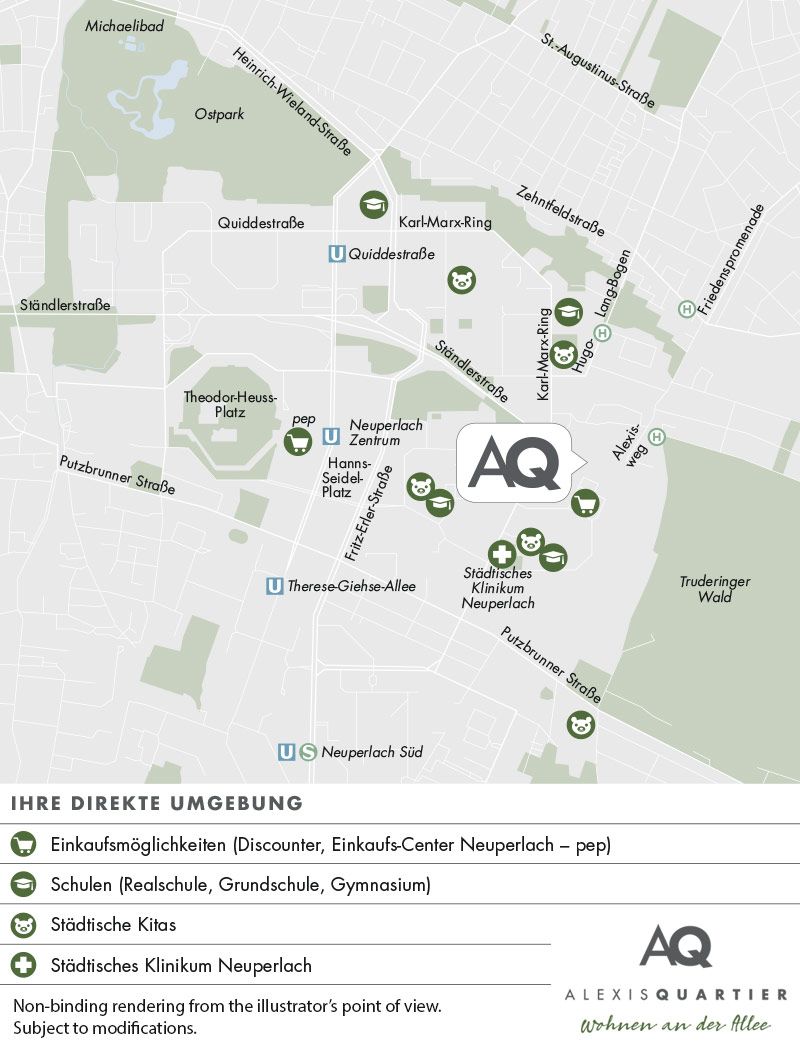 Property Alexisquartier - Wohnen an der Allee - Section of city map 2