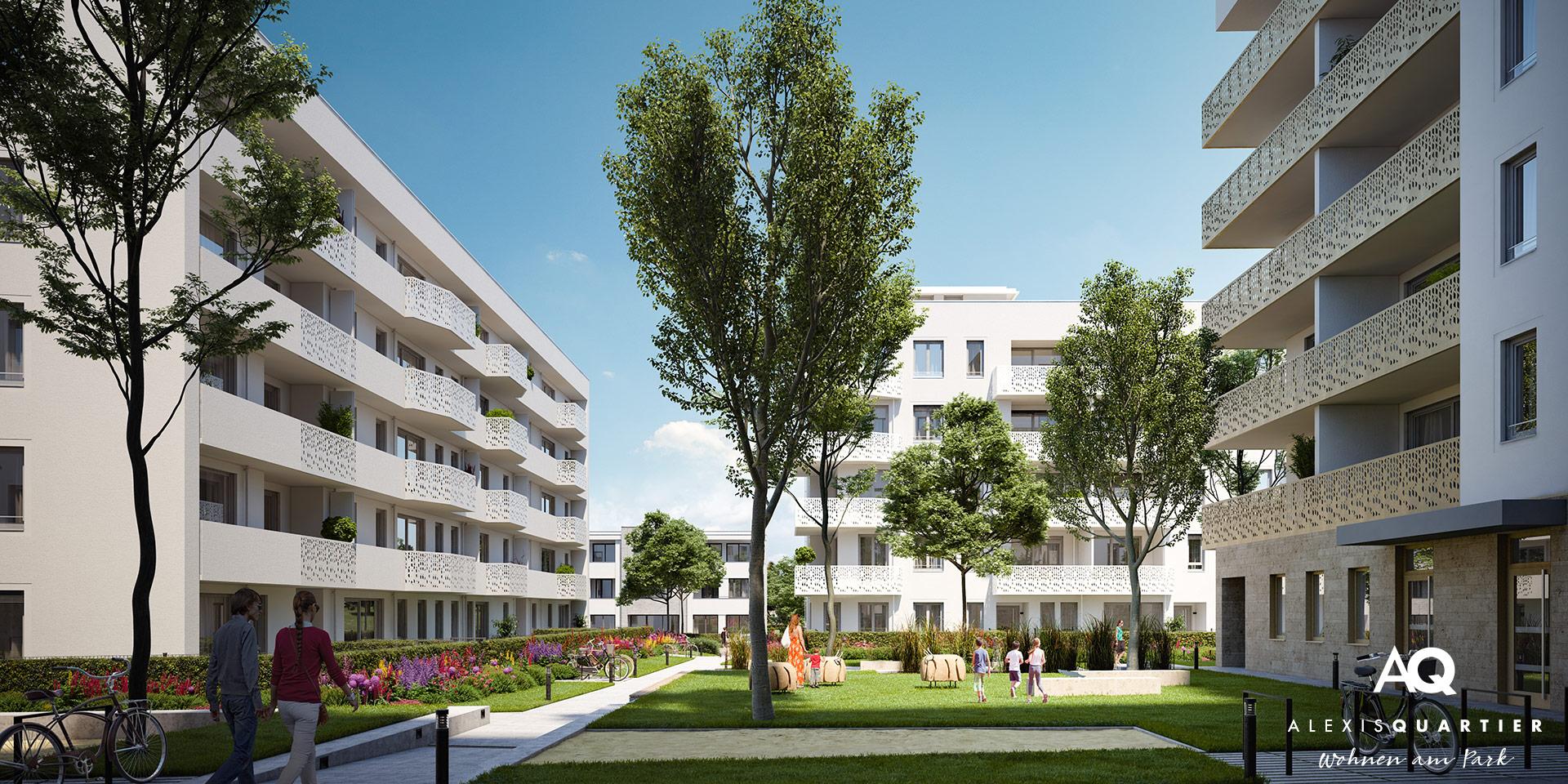 Eigentumswohnungen München: Alexisquartier - Wohnen am Park