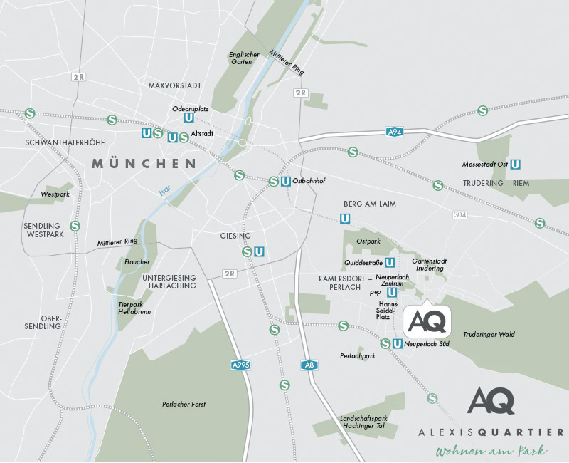 Property Alexisquartier - Alexisquartier - Wohnen am Truderinger Wald - map1