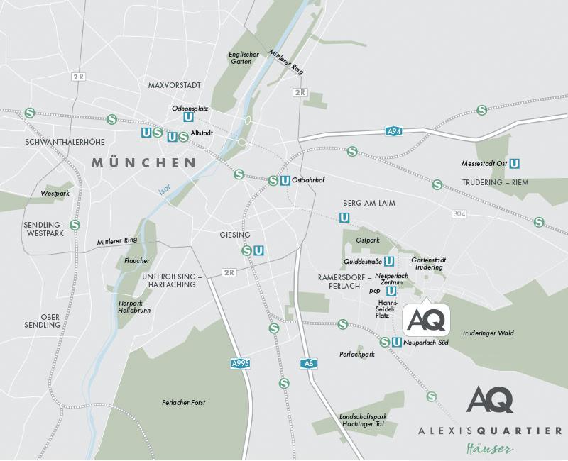 Immobilie Alexisquartier - Reihenhäuser - Stadtplanausschnitt1