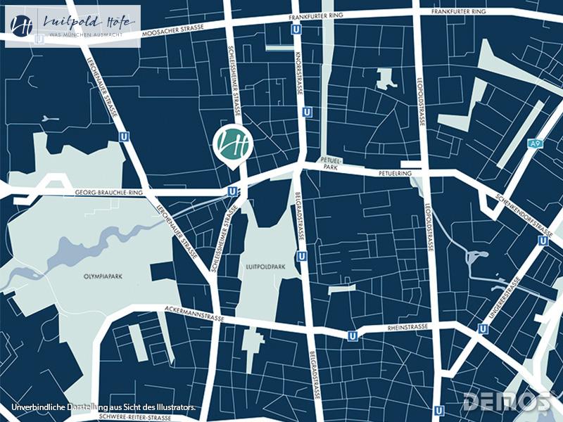 Immobilie Luitpold Höfe - Stadtplanausschnitt