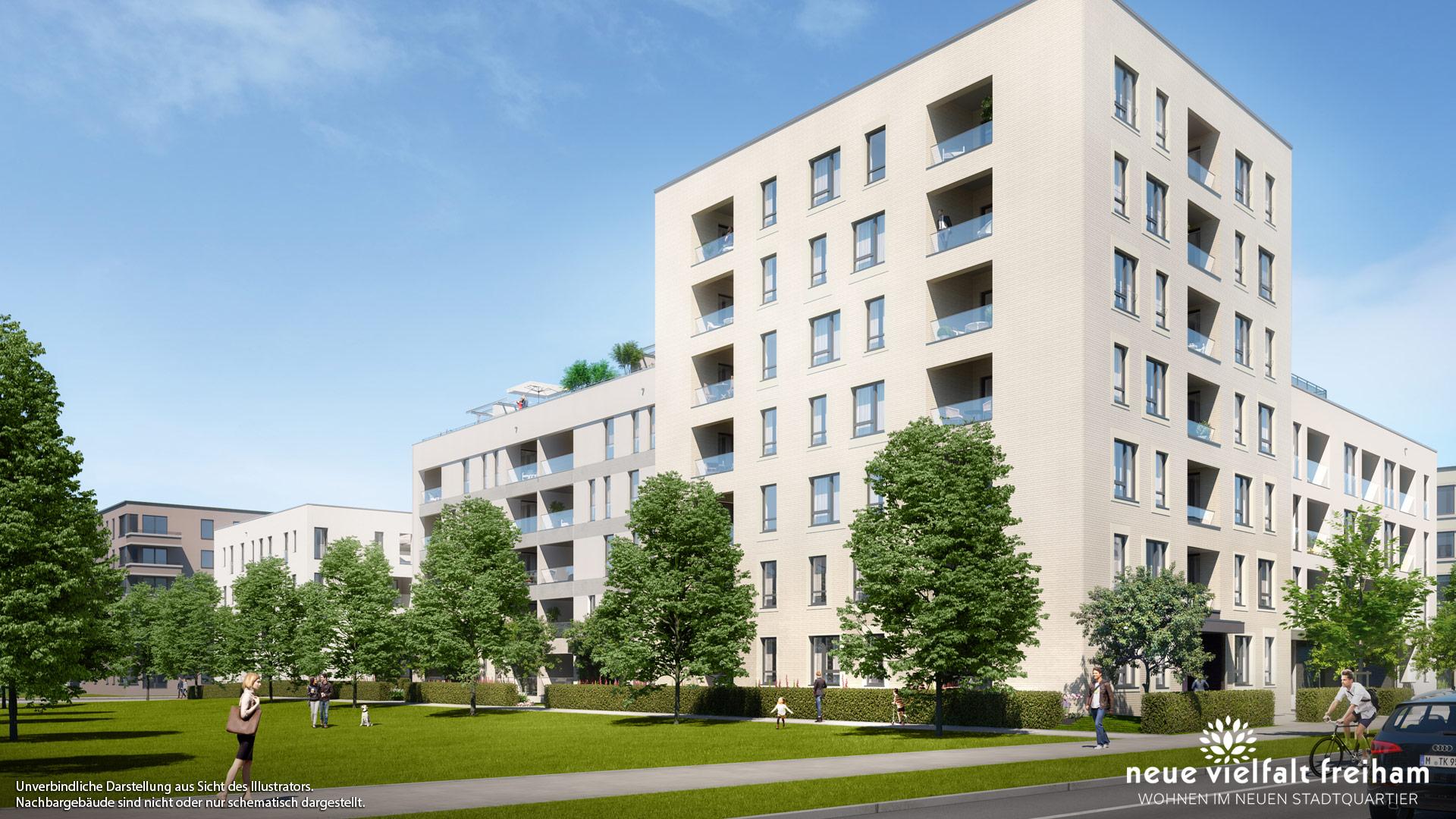 Immobilie Neue Vielfalt Freiham - Illustration 1