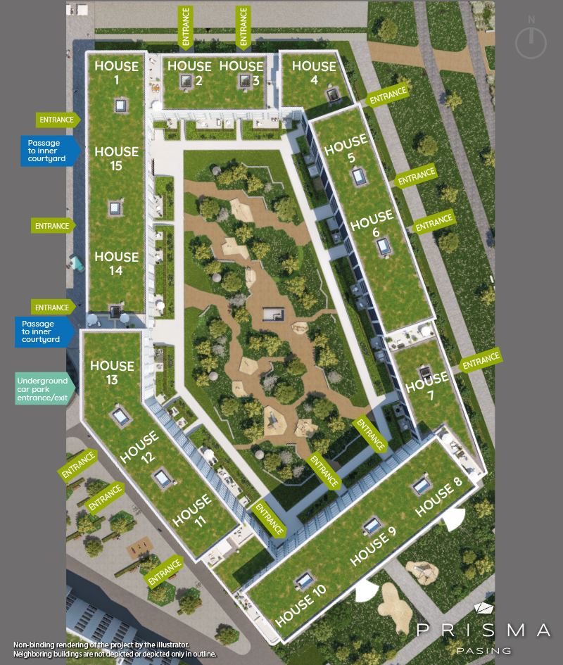 Property Prisma Pasing - site plan