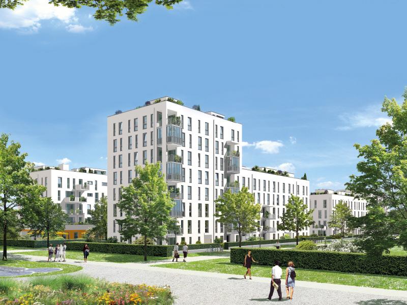 Immobilie NEUE GÄRTEN GIESING II - Illustration Häuser 1, 2