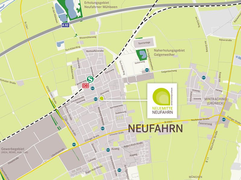 Immobilie Neue Mitte Neufahrn - Stadtplan