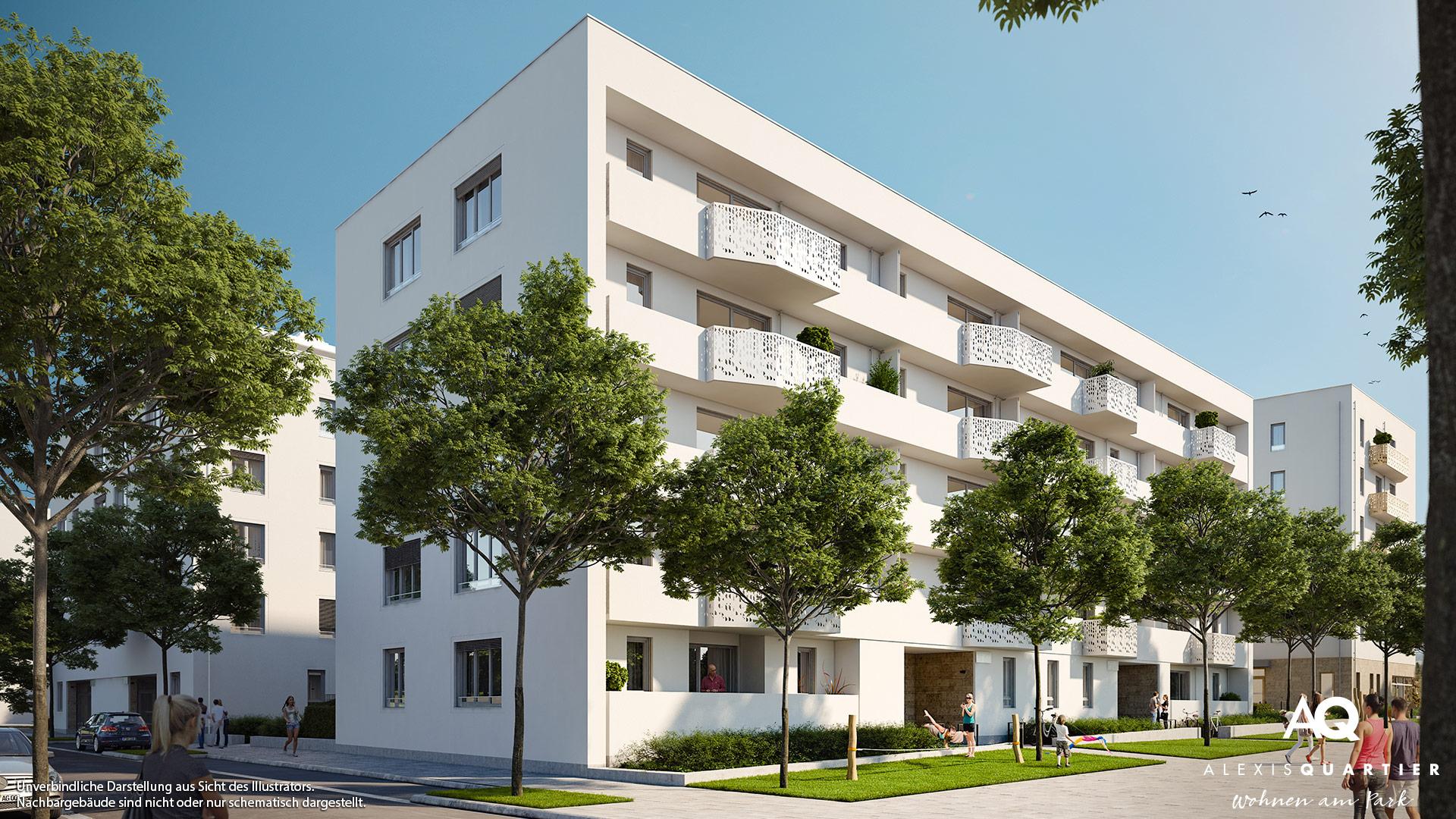 Immobilie Alexisquartier - Wohnen am Park - Gewerbeeinheiten - Illustration 1