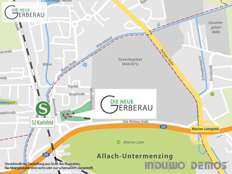 Immobilie Die neue Gerberau - Stadtplanausschnitt