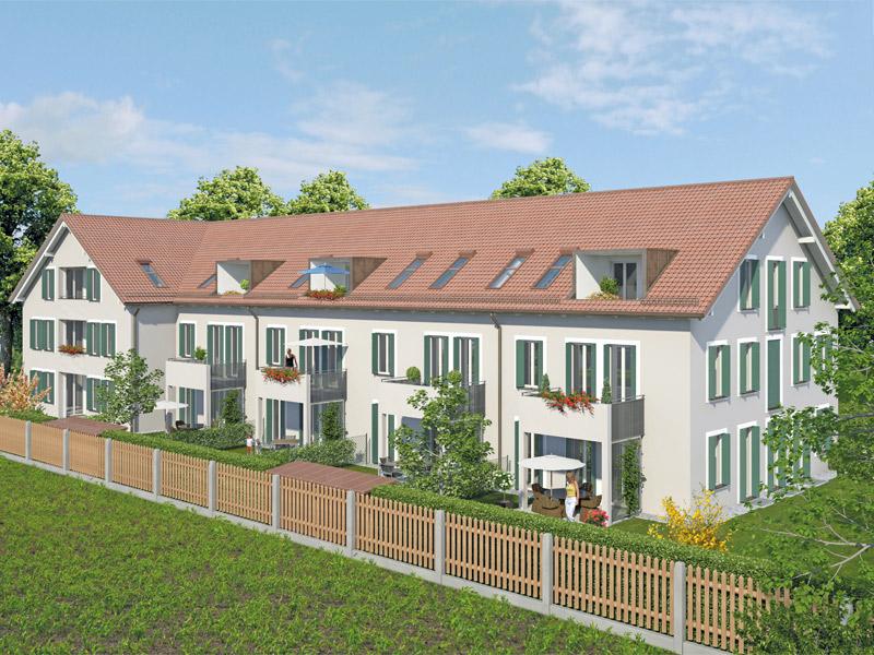 Immobilie Wohnidyll OTTENDICHL - Illustration, Haus 1, 2, Westansicht