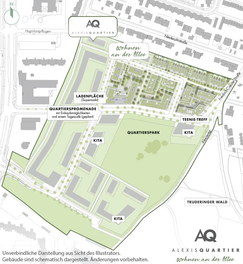 Immobilie Alexisquartier - Wohnen an der Allee - Gesamtlageplan