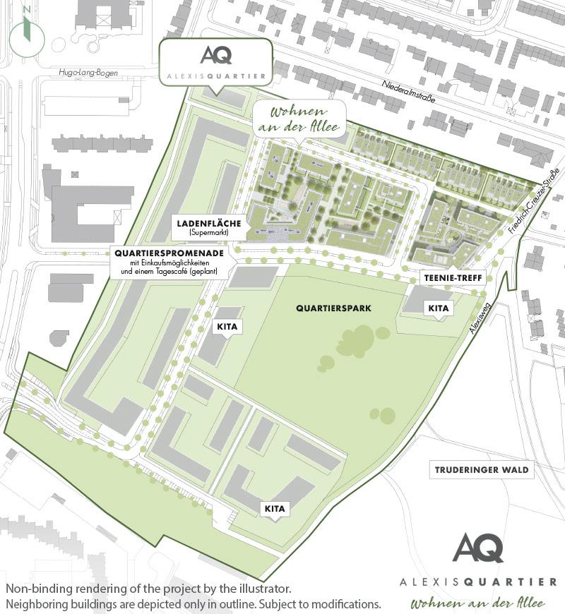 Property Alexisquartier - Wohnen an der Allee - Site plan 1