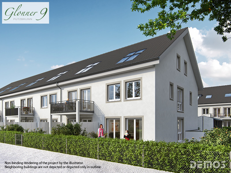 Property Glonner 9 - Illustration townhouses nach WEG