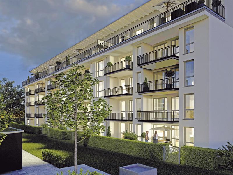 Property Gut Gelegen Germering - evening illustration house 1, 2