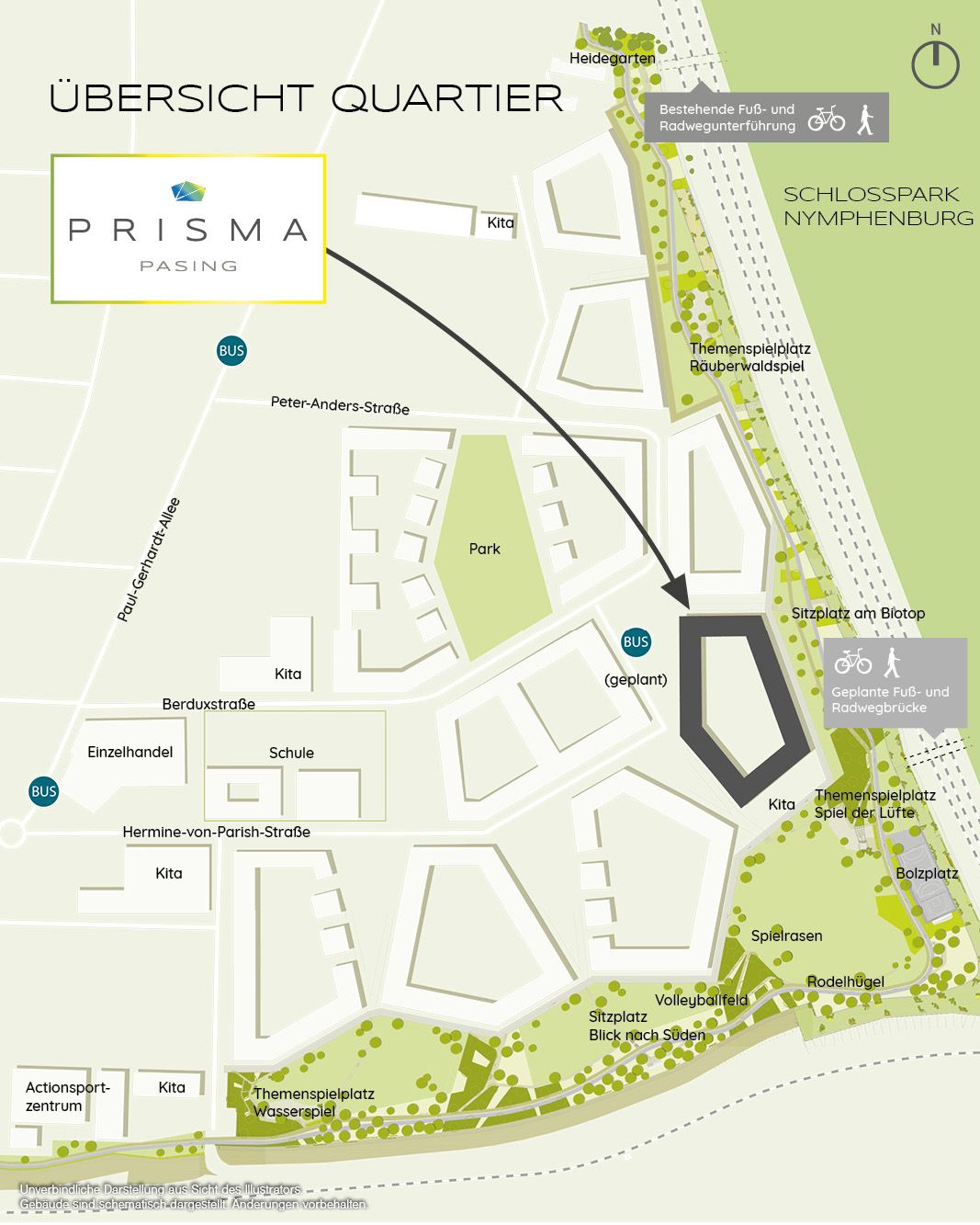 Immobilie Prisma Pasing - Quartiersplan