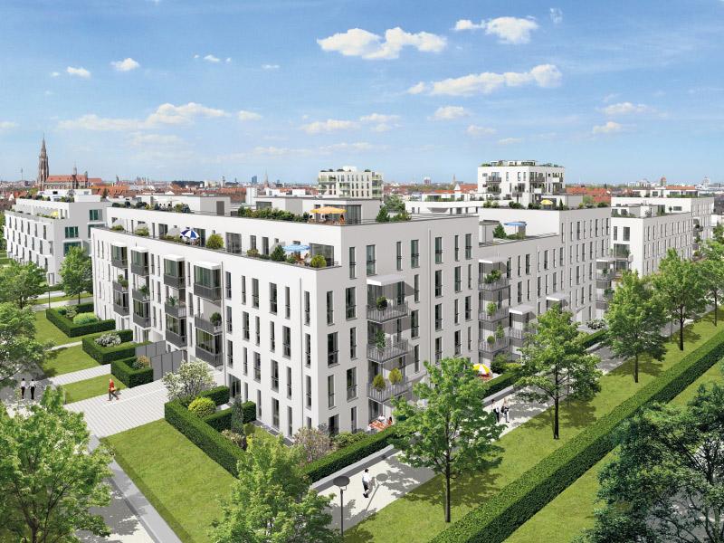 Property NEUE GÄRTEN GIESING II - Illustration houses 4 - 9