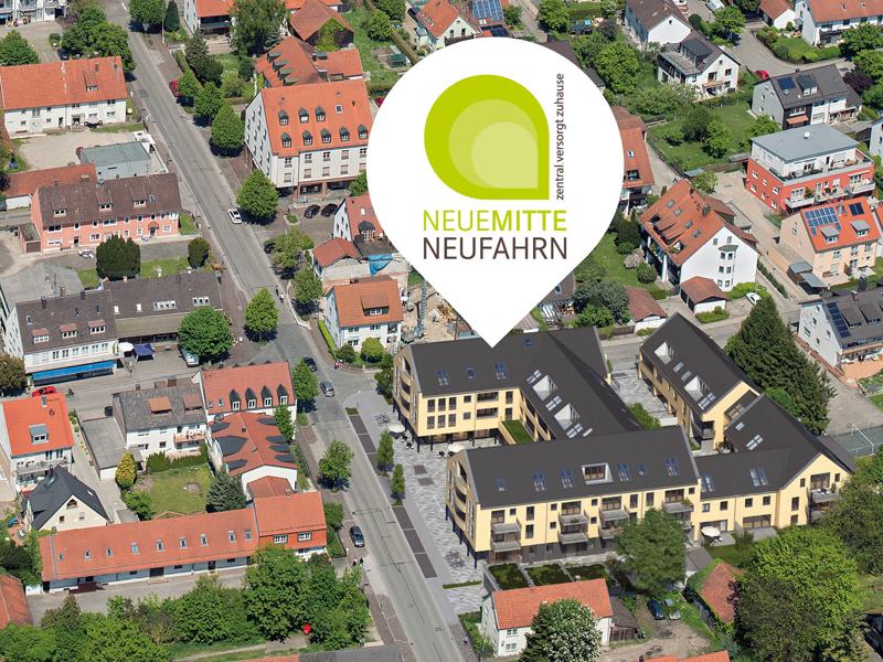 Immobilie Neue Mitte Neufahrn - Luftbild