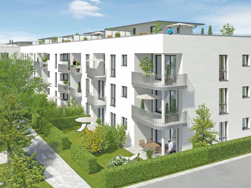 Immobilie Mein Aubing - Illustration Häuser 11, 12, 13