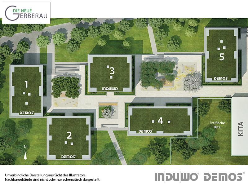 Immobilie Die neue Gerberau - illustrierter Lageplan