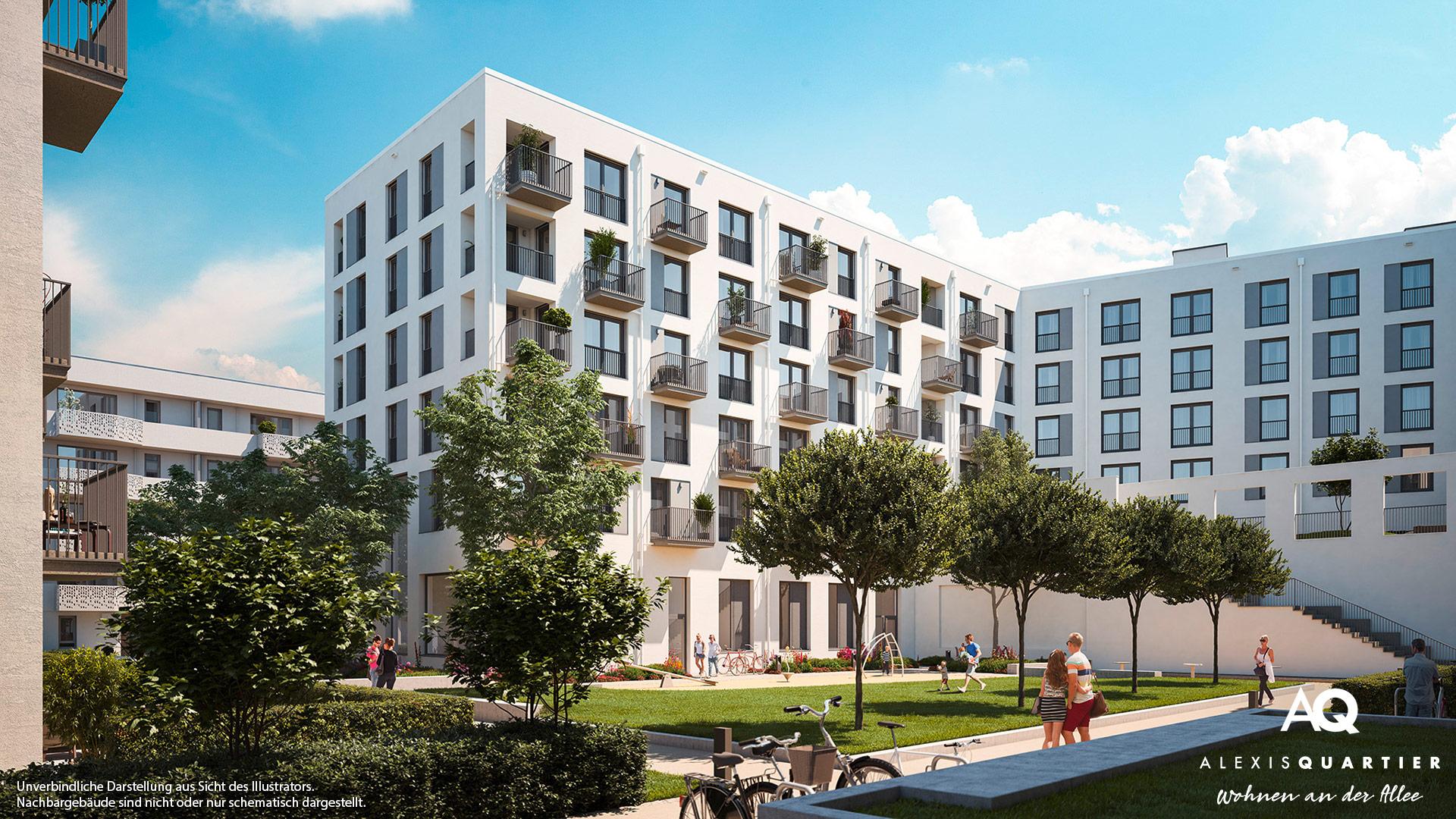 Immobilie Alexisquartier - Wohnen an der Allee - Illustration 3
