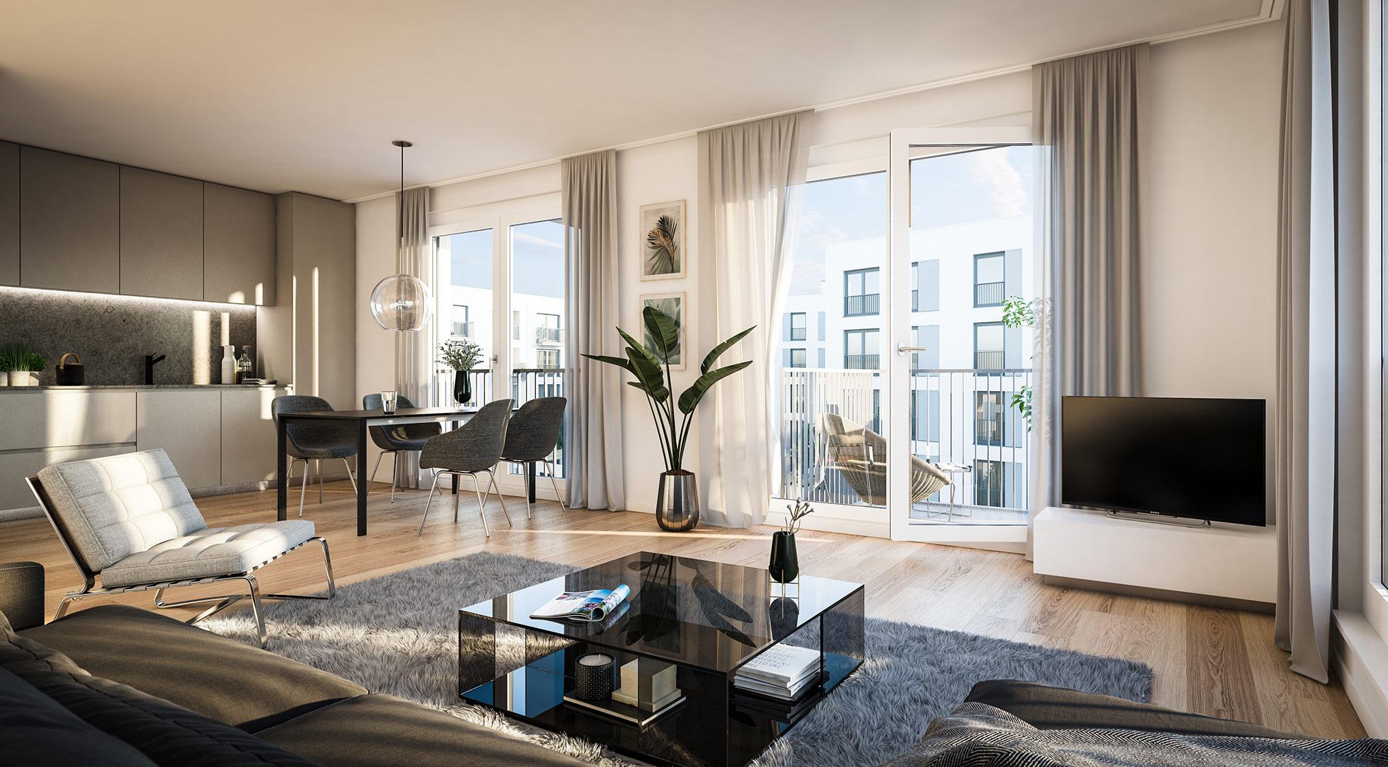 Immobilie Alexisquartier - Wohnen an der Allee - Projektdetails - Illustration 3