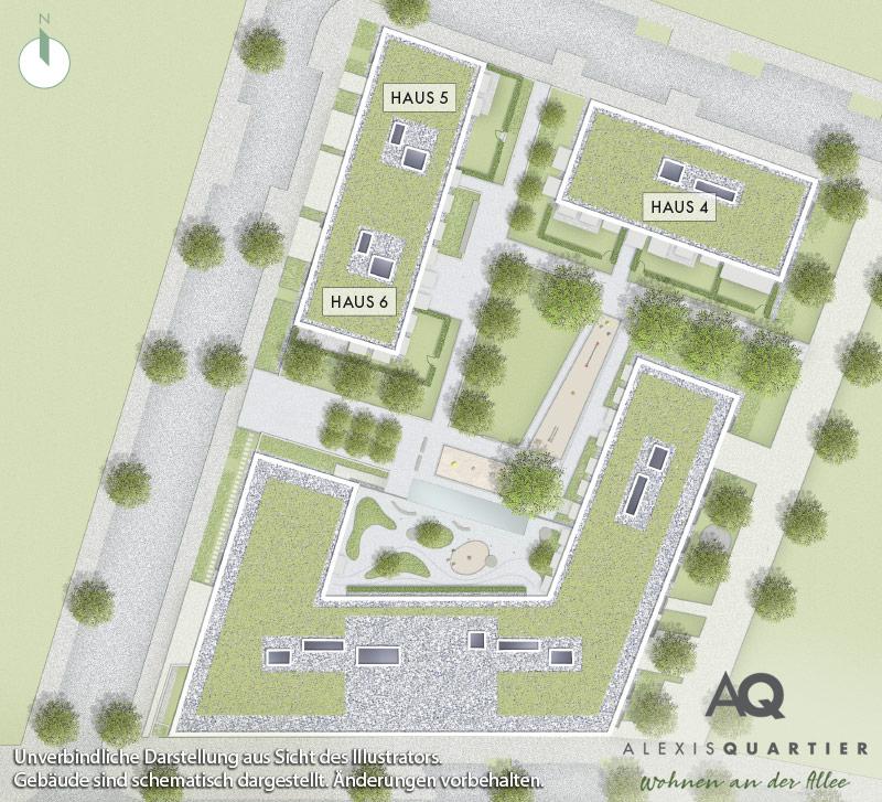 Immobilie Alexisquartier - Wohnen an der Allee - Lageplan