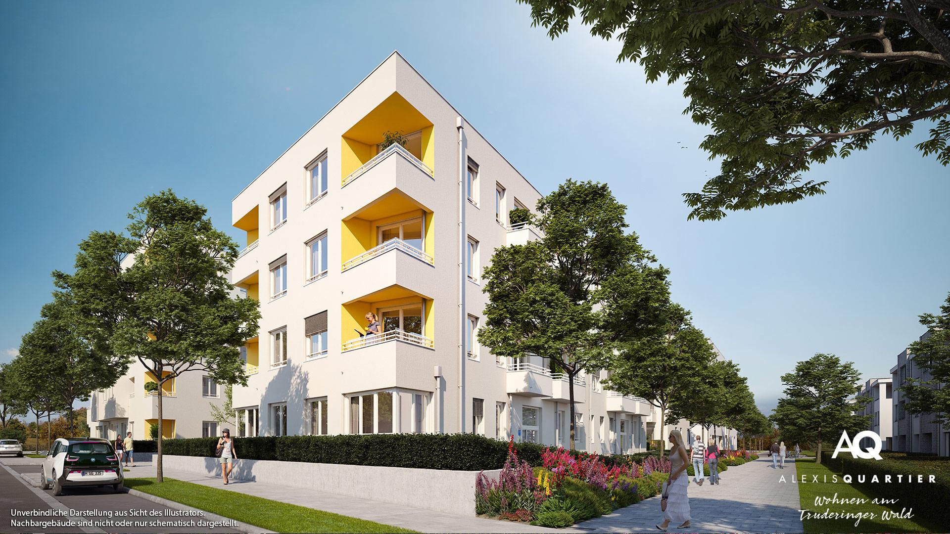 Immobilie Alexisquartier - Wohnen am Truderinger Wald - Illustration 3