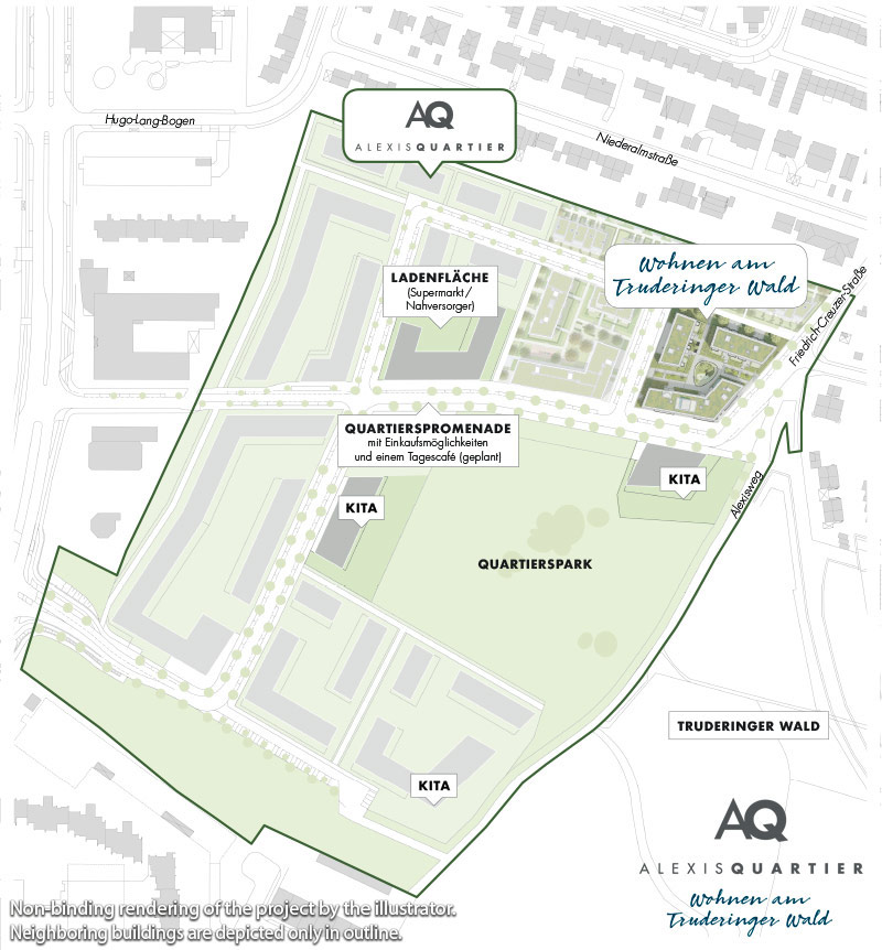 Property Alexisquartier - Wohnen am Truderinger Wald - neighborhood plan