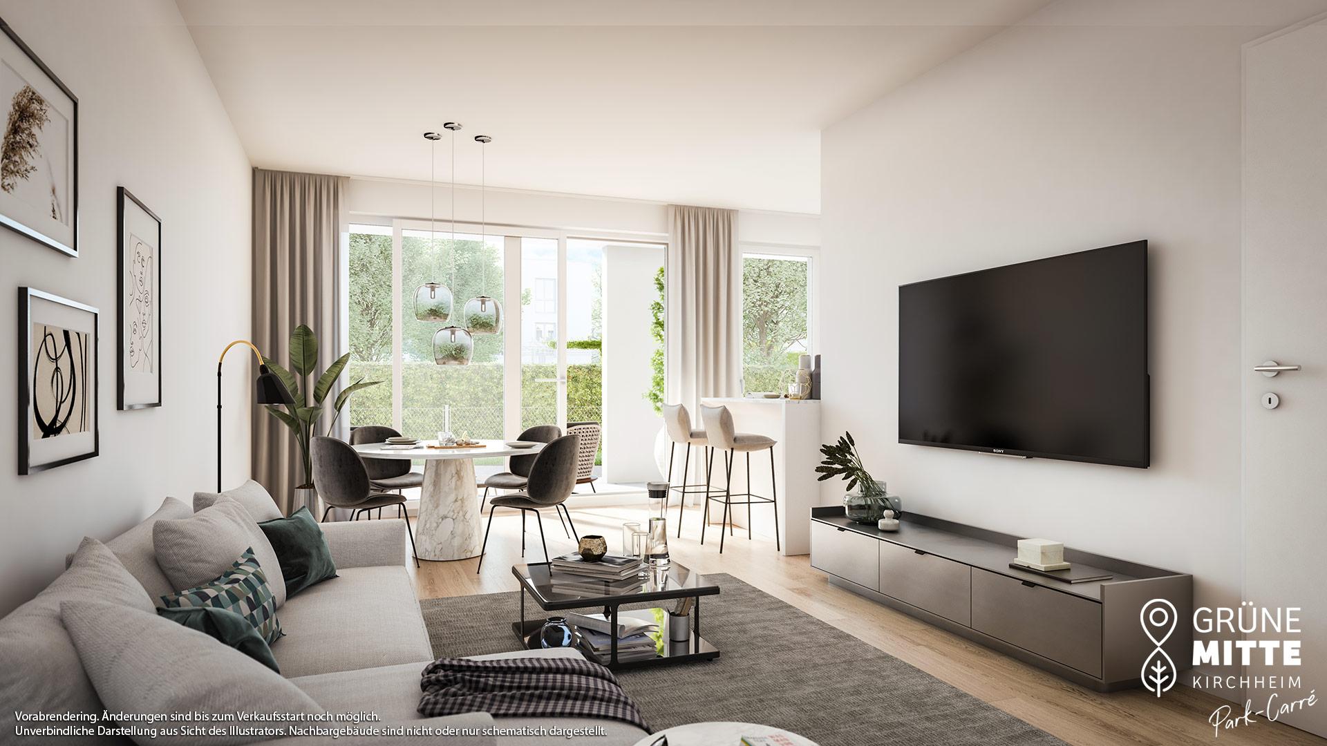 Immobilie Grüne Mitte Kirchheim - Park-Carré - Vorankündigung - Illustration 3