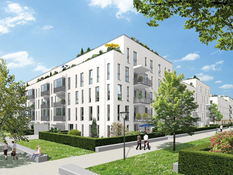 Property NEUE GÄRTEN GIESING II - Illustration houses 6 - 9