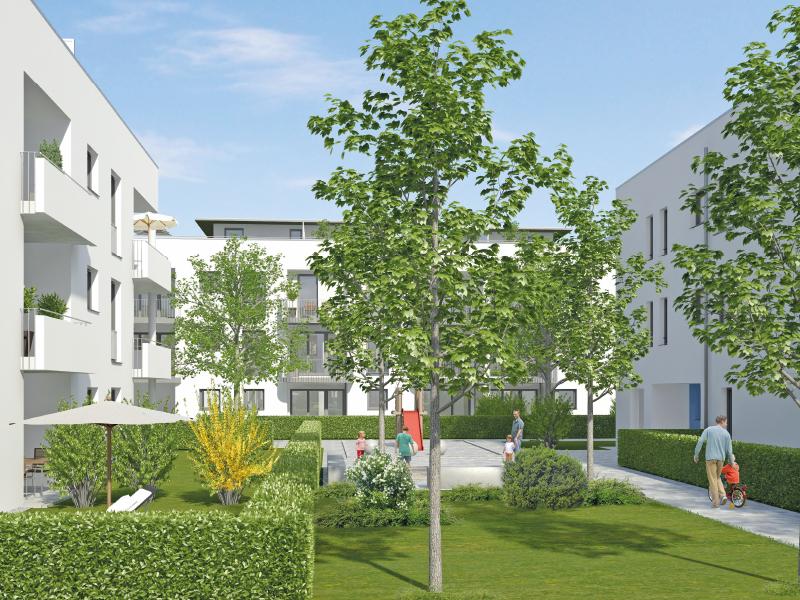 Immobilie Mein Aubing - Illustration Häuser 3, 4, 6, 7