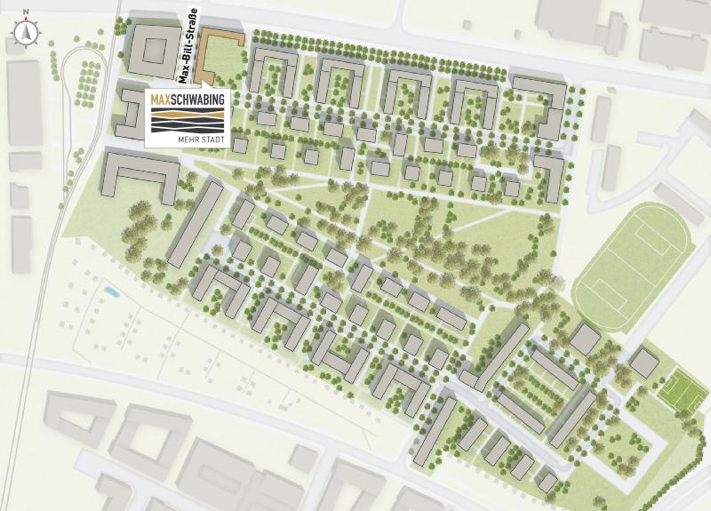 Immobilie Max Schwabing - Bebauungsplan
