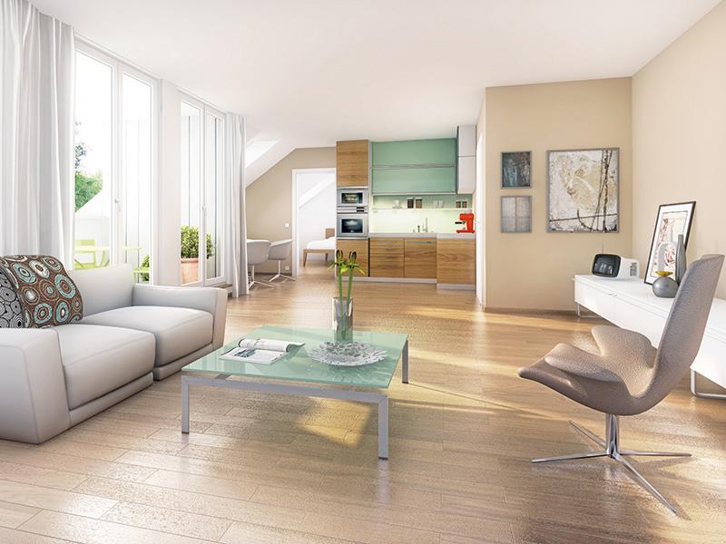 Immobilie Wohnidyll OTTENDICHL - Illustration Wohnzimmer 2