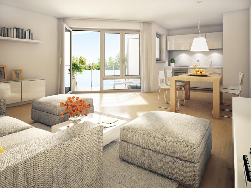 Property Wallensteinplatz - Illustration living room 2