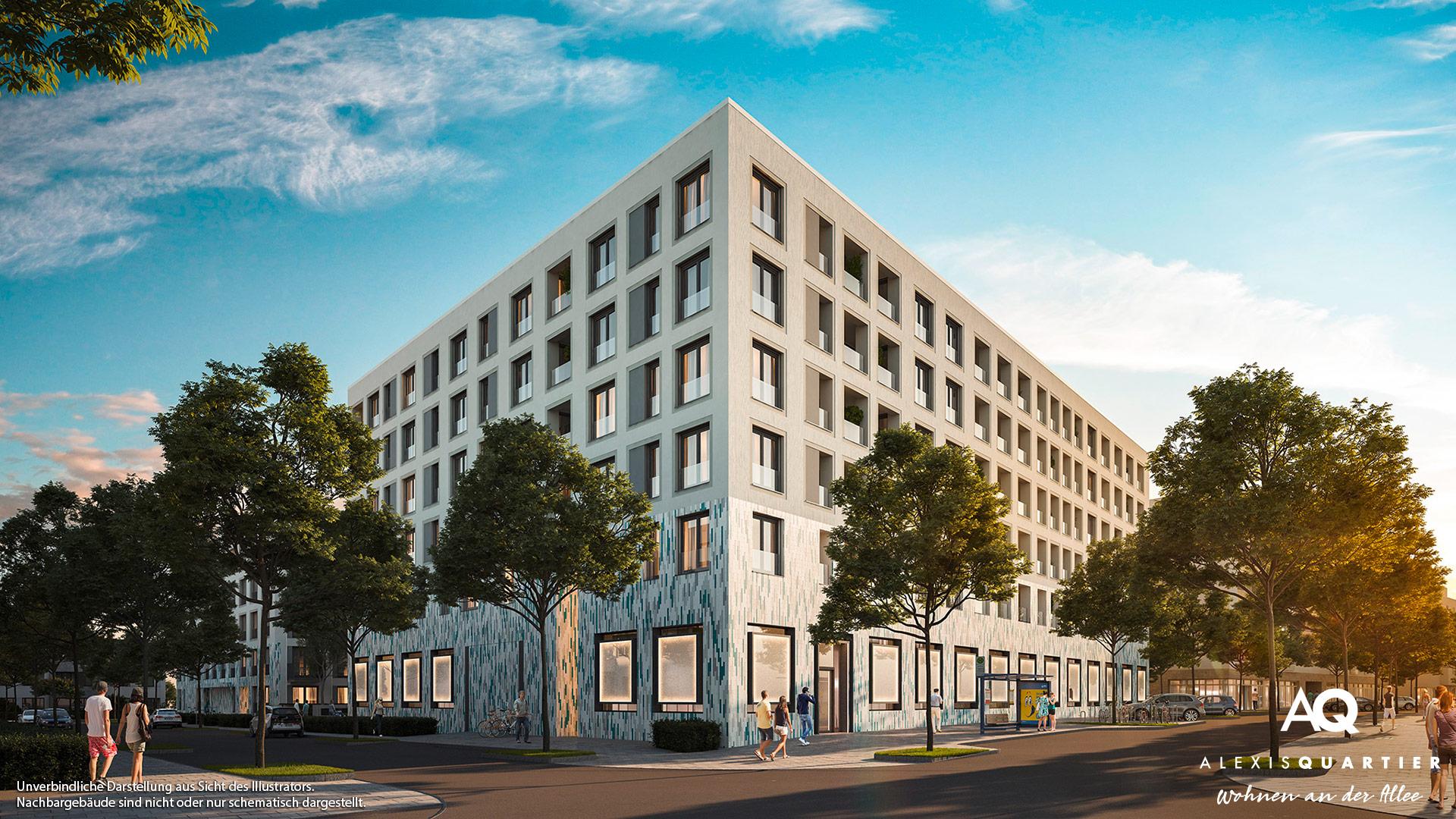 Immobilie Alexisquartier - Wohnen an der Allee - Illustration 4