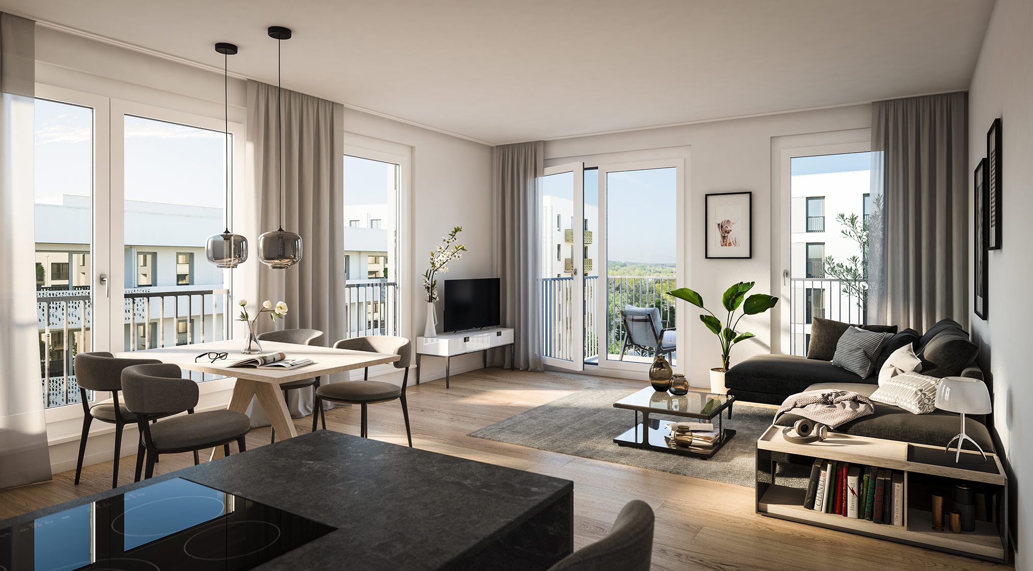 Immobilie Alexisquartier - Wohnen an der Allee - Projektdetails - Illustration 4