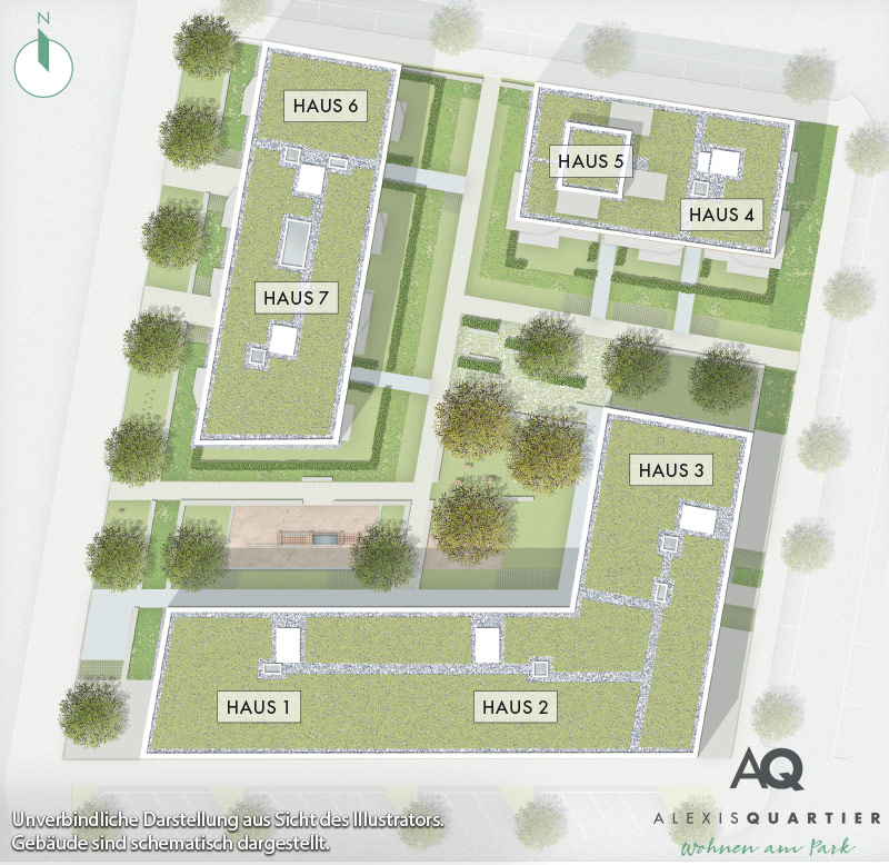 Immobilie Alexisquartier - Eigentumswohnungen - Lageplan