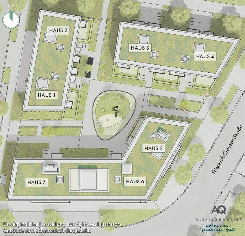 Immobilie Alexisquartier - Wohnen am Truderinger Wald - Lageplan