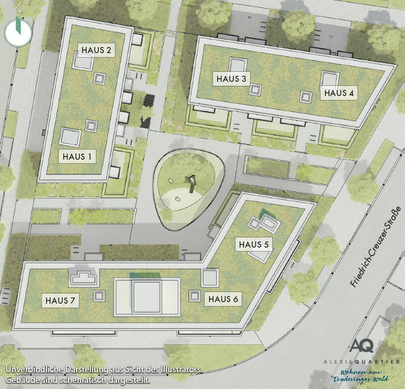Immobilie Alexisquartier - Alexisquartier - Wohnen am Truderinger Wald - Lageplan