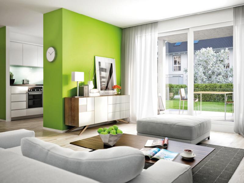 Immobilie Seidlhofgarten - Illustration Wohnzimmer 1