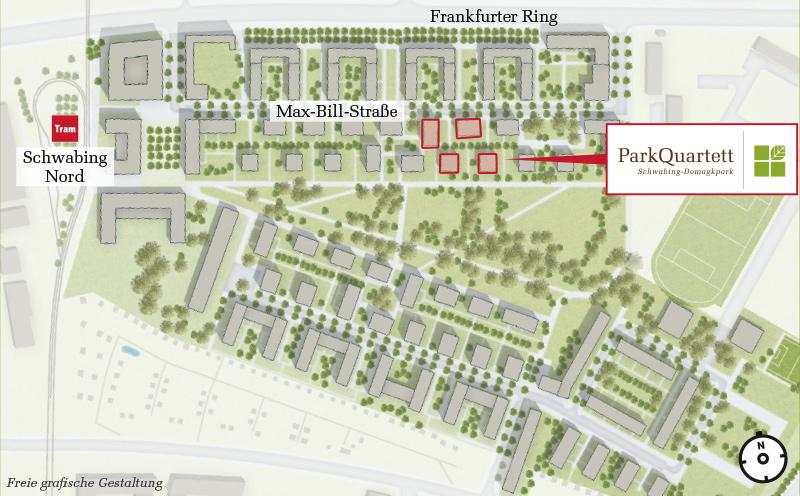 Immobilie ParkQuartett - Bebauungsplan