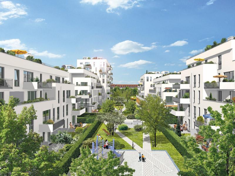 Immobilie NEUE GÄRTEN GIESING II - Illustration Innenhof