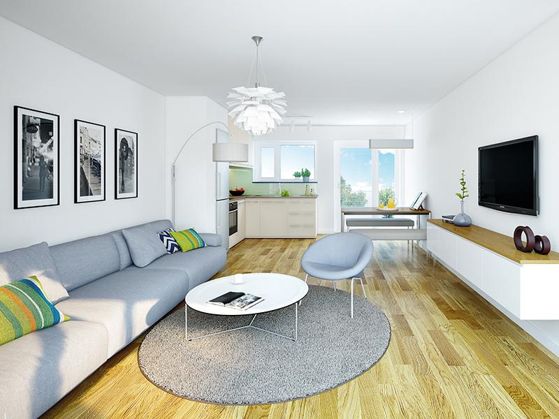 Immobilie VIVA WESTPARK 2 - Illustration Wohnzimmer 2