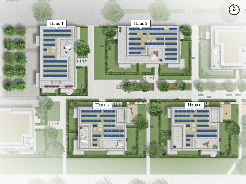Immobilie ParkQuartett - Lageplan