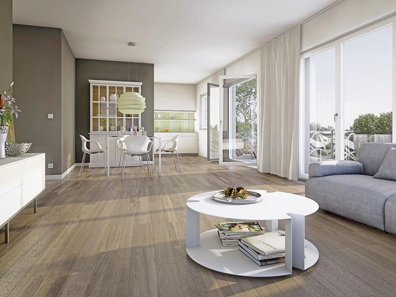 Immobilie Max Schwabing - Beispielillustration Wohnzimmer