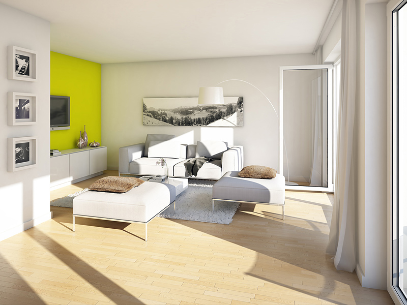 Immobilie VIVA WESTPARK - Illustration Wohnzimmer 2