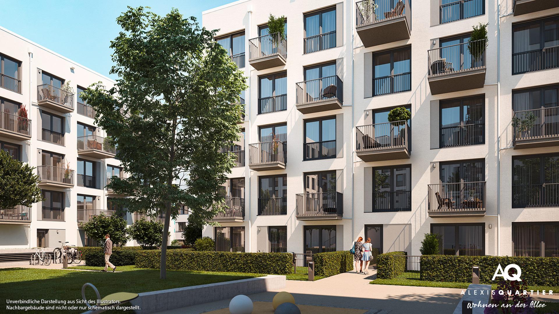 Immobilie Alexisquartier - Wohnen an der Allee - Illustration 6