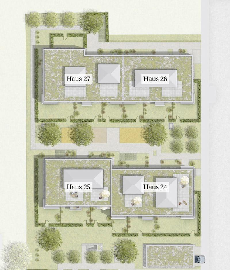 Immobilie Mein Aubing 3 - Lageplan Haus 24 - 27