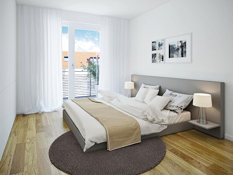Immobilie VIVA WESTPARK 2 - Illustration Schlafzimmer